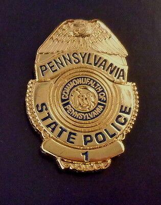 Pennsylvania PA State Police Mini Badge Lapel Pin PASP