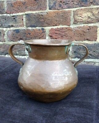 Vintage. Copper. Quality Traditional Shaped Pot Planter Vase Vessel