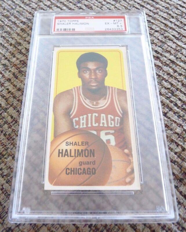 Shaler Halimon 1970 Topps Tall Boy #127 Basketball Card PSA Graded Slabbed 6.5