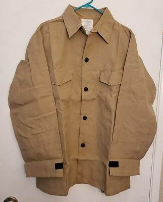 New 4.5 Oz Nomex Iiia Fr Wildland Fire Fighting Brush Shirt Khaki Tan L