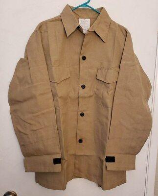 New 4.5 Oz Nomex Iiia Fr Wildland Fire Fighting Brush Shirt Khaki Tan L