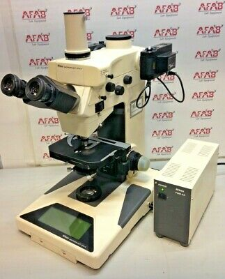 Nikon Microphot-fxa Fluorescence Microscope With Nikon Psm-4a Power Supply