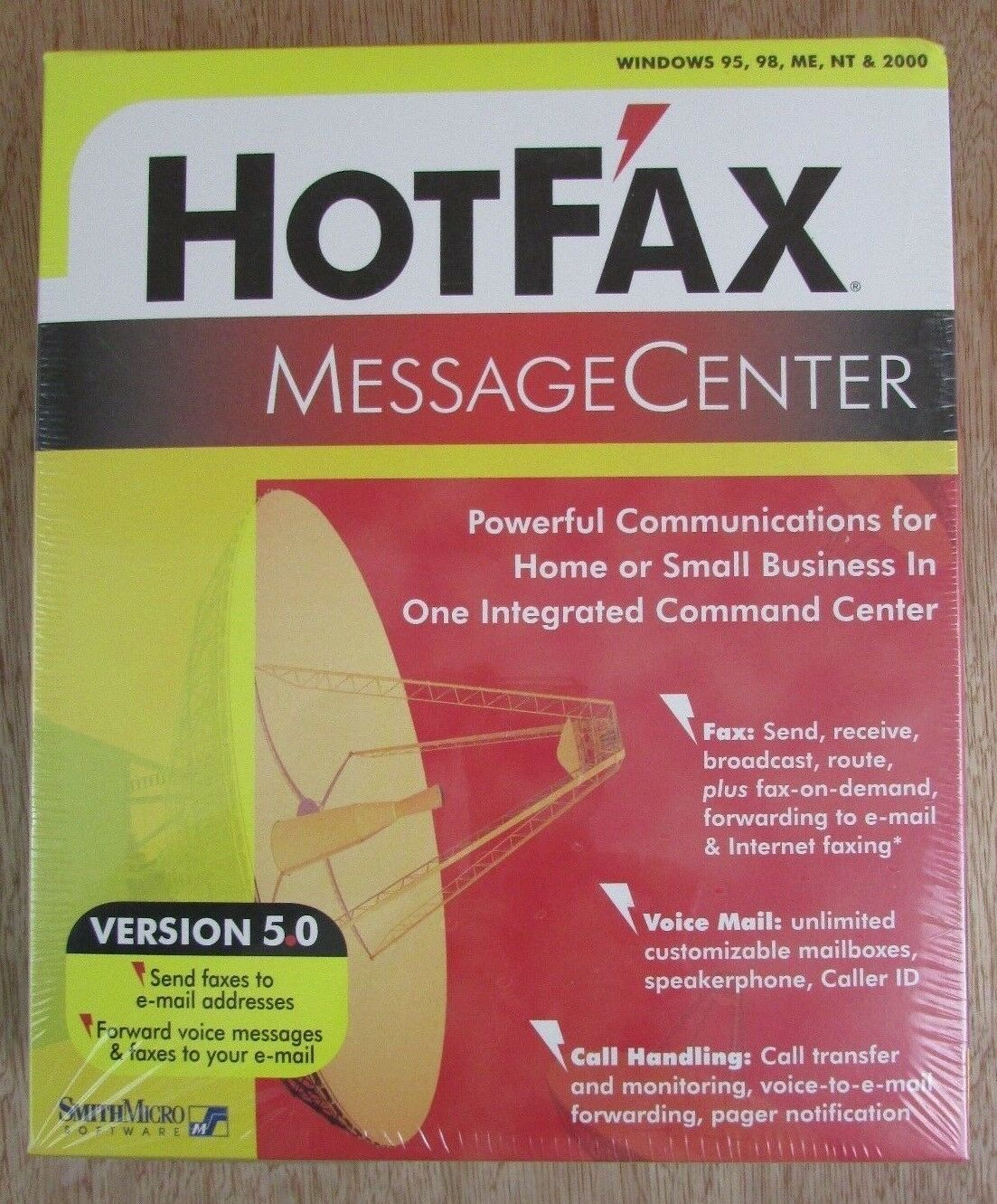 HotFax Message Center PC Software Version 5.0 For 95, 98, ME, NT, & 2000