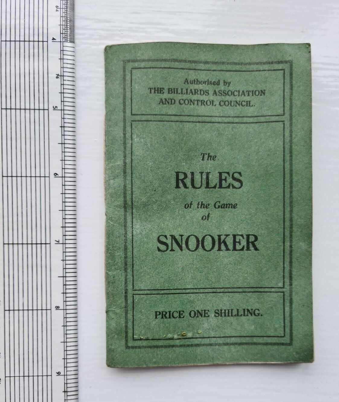Rules of the game of Snooker, Booklet, Pamphlet