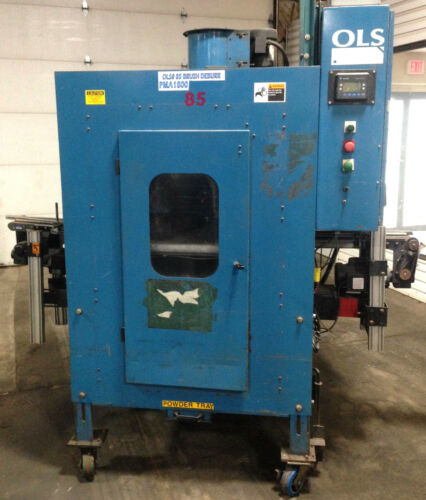 OLS Production Conveyor Dual Brush Deburr Finishing Deburring Brushing Machine