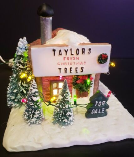 Christmas Valley Village Town House Taylors Fresh Christmas Trees Stand