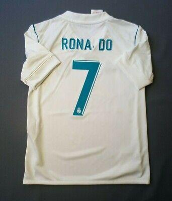 ddd3af500c4 4.5 5 Ronaldo Real Madrid kids jersey 7-8 years 2018 shirt B31111 Adidas  ig93