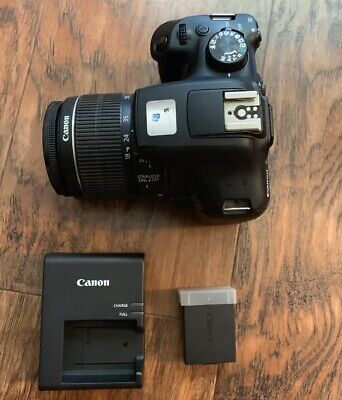 Canon Rebel T6 dSLR camera kit, 18MP, w/18-55mm lens. - please Read -