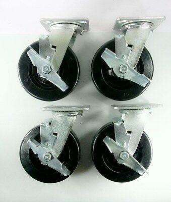 6 X 2 Phenolic Wheel Caster - Swivel With Brake 4ea
