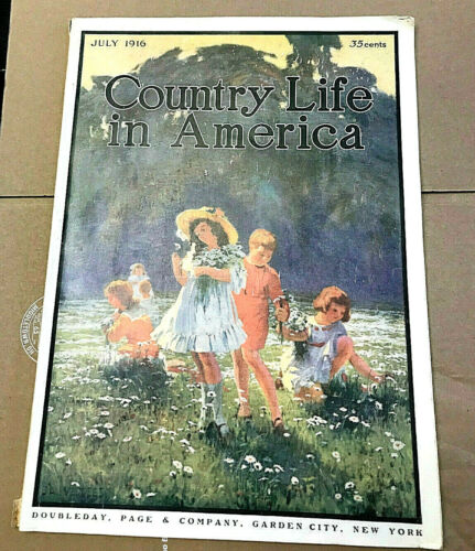 Vtg 1916 Country Life in America Magazine Garden City NY Advertising Art