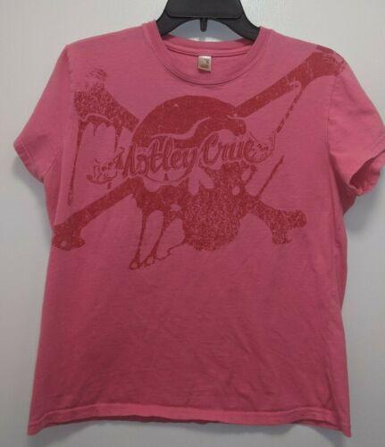 Anvil Ladies Fitted XL Hot Pink Motley Crue Tour Shirt Skull  Crossbones