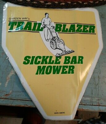 Nos Vintage Large Trail Blazer Sickle Bar Mower Garden Ways Troy Ny
