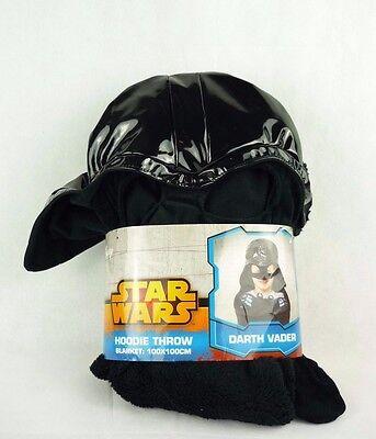 Star Wars Darth Vader Plüschdecke mit Mütze Hoodie Throw Blanket (Darth Vader Hoodie)