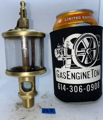 Lonergan Brass Cylinder Oiler Hit Miss Gas Engine Vintage Antique Steampunk