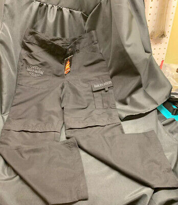New Harley Davidson zip off Pants sz 10