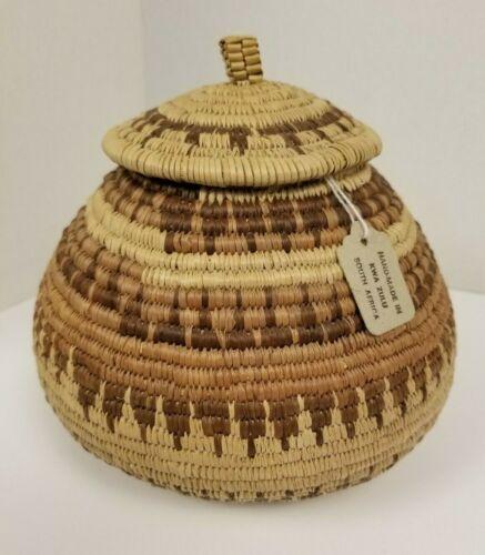 WOVEN BASKET HANDMADE Kwa Zulu Africa