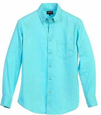 Men Long Sleeve Solid Dress Shirt Casual Twill Regular Fit Button Down Size S-2X