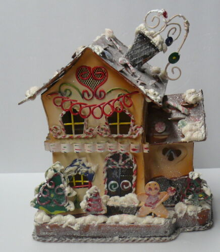 """OLD WORLD CHRISTMAS HOUSE """" TOLEWARE""""  elaborately decorated metal ware"""