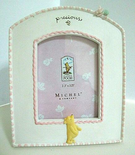 Adorable Disney Michel & Co Winnie the Pooh Ceramic Pink Frame-Pooh & Piglet