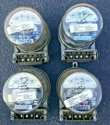 Four 4 Vintage Electric Meters From Comed