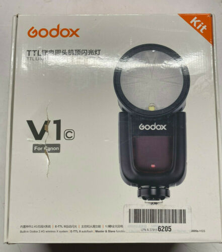 Godox V1-C Wireless Adjustable Flash for Canon DSLR - Open Box