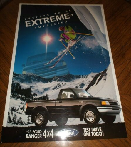 """1993 Ford Ranger 4x4: Dealership Showroom Poster """"Test Drive One Today"""""""