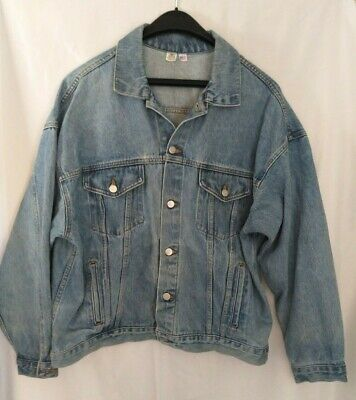 Always Coca Cola Vintage Blue Denim Jean Western Trucker Jacket Men's Size XL