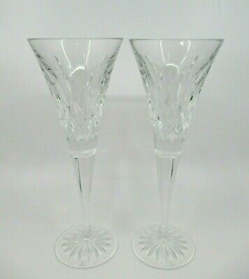 WATERFORD LISMORE SET OF 2 TOASTING FLUTES ( In Box -Monogrammed