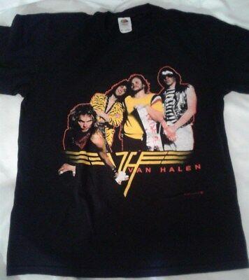 VAN HALEN Logo 2002 T-Shirt DAVID LEE ROTH, EDDIE, ALEX, MICHAEL ANTHONY, RARE M
