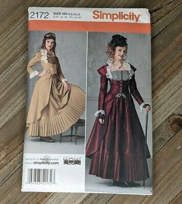 Simplicity Sewing Pattern #2172 Steampunk Cosplay Halloween Sz 6, 8, 10, 12 : #2