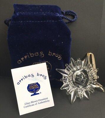 DISNEY~Walt Disney Classics Collection~Arribas Bros~Crystal Ornament~ NIB