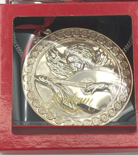 Gorham Sterling Silver Angel with Mandolin Ornament, with box