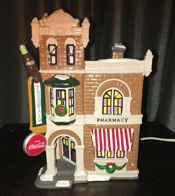Vintage Department 56 Snow Village Coco Cola Corner Drugstore 1995 54844 w/box