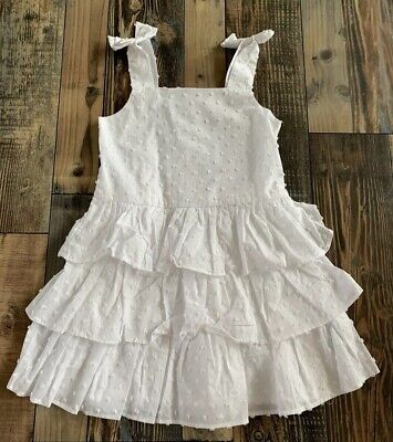 NWT GYMBOREE Girls White Tier Ruffle Dressy Easter WEDDING DRESS Size 8 - Girls Easter Dresses Size 8