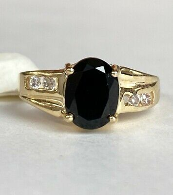 14k Fine Yellow Gold & Onyx ladies womens Ring MAKE AN OFFER! 14k Gold Ladies Onyx