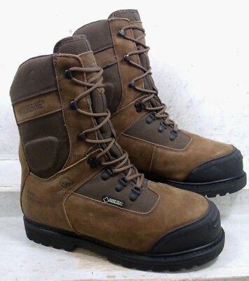 "Wolverine Mens Big Sky Brown 6"" Goretex Safety Toe Work W05551 Boots sz 10.5 EW"