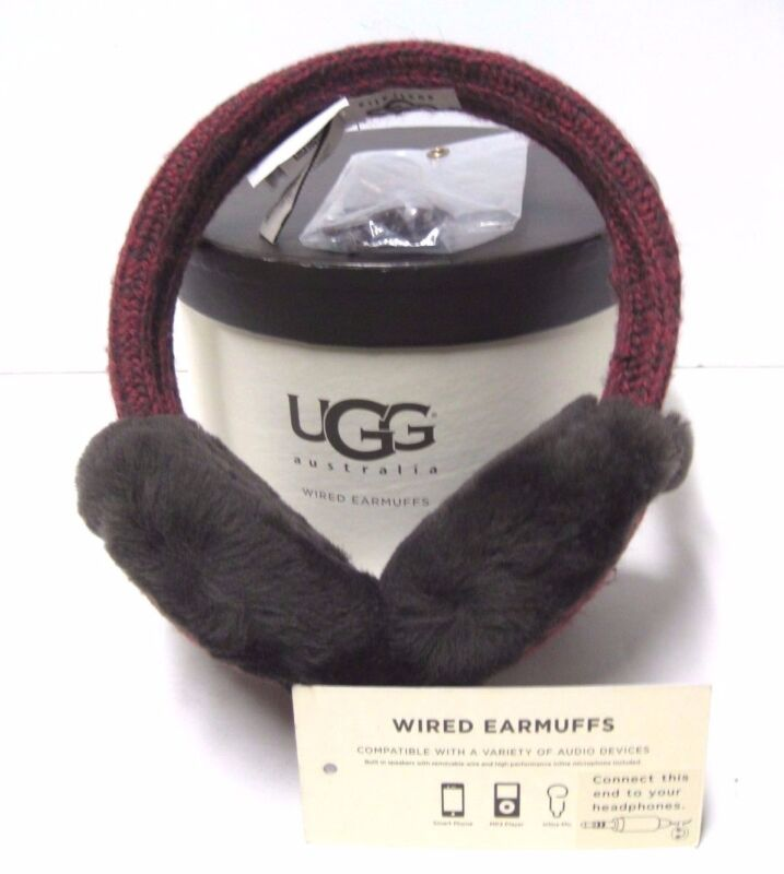 UGG MARLED CARDY WIRED  WOMEN EARMUFFS SANGRIA ONE SIZE FIT ALL