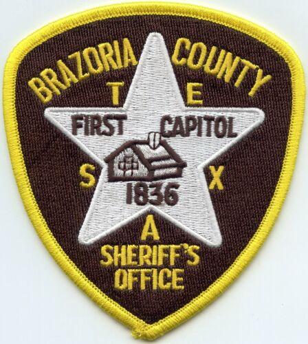 BRAZORIA COUNTY TEXAS TX SHERIFF POLICE PATCH