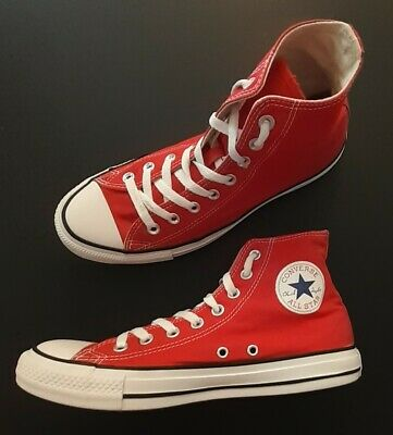Converse Chuck Taylor All-Star High tops unisex Red Women's Size 10 Men's Size 8