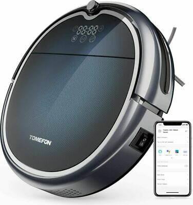 Robotic Vacuum Cleaner with Wi-Fi Connected, Max Power Suction,Self-Charging, Qu