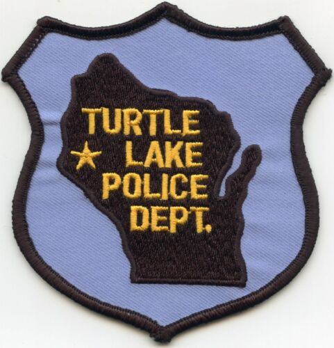 TURTLE LAKE WISCONSIN WI POLICE PATCH