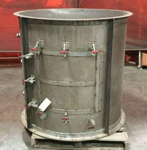 """Stainless Steel Cylindrical Housing / 48""""H x 45"""" Diameter / 330 Gallon"""
