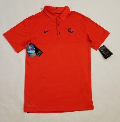 Nike Elite Oregon State Beavers Sidelines Polo Shirt Men's Small Orange MSRP $85