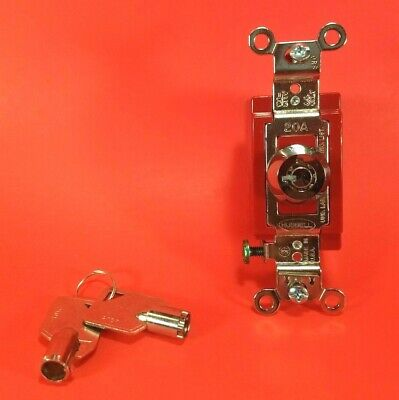 Genuine Bryant 4901rkl - Barrel Key Locking Wall Switch - 1-poke 20a 120-277 Vac