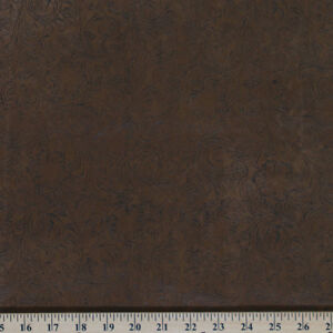 Faux Leather Look Brown Synthetic Floral Fabric Print by the Yard D367.03
