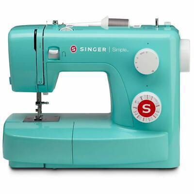 SINGER 3223G Máquina de Coser Simple Halbautomatik 23 Coser Turquesa Dekorstich