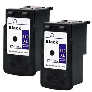 2 Pk Canon PG-210XL Black Ink Cartridge For PIXMA MP240 MP250 MP280 Printer