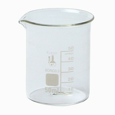 Karter Scientific 50 Ml Low Form Graduated Glass Beaker