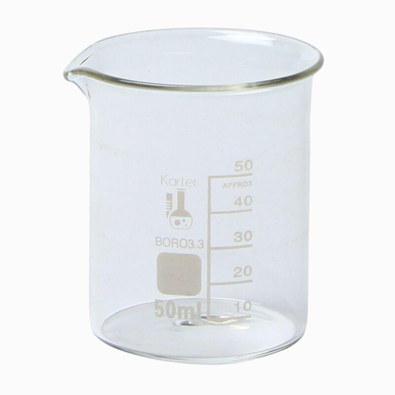 Karter Scientific, 50 ml Low Form Graduated Glass Beaker