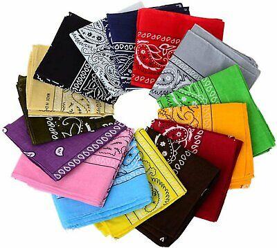 New Cotton Paisley Print Scarf Bandana Handkerchief Head Wrap Durag Bandana Clothing, Shoes & Accessories